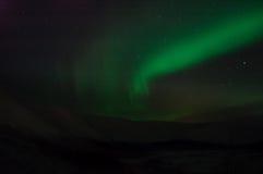 Nastri del polaris dell'aurora Immagini Stock