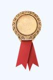 Nastri del premio dell'oro Fotografie Stock Libere da Diritti