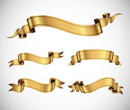 Nastri dell'oro Immagine Stock
