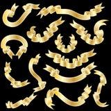 Nastri dell'oro impostati royalty illustrazione gratis