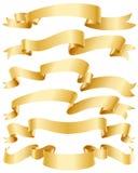 Nastri dell'oro impostati Fotografia Stock Libera da Diritti