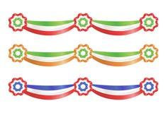 Nastri della decorazione del partito della bandierina Fotografie Stock