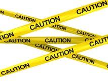 Nastri di avvertenza Fotografie Stock