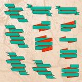 Nastri di carta tirati illustrazione vettoriale