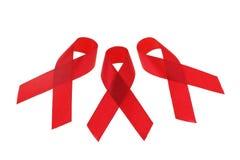 Nastri di consapevolezza del AIDS Immagine Stock Libera da Diritti
