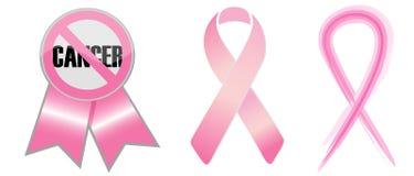 Nastri di consapevolezza del cancro della mammella Immagini Stock Libere da Diritti