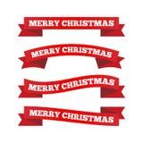 Nastri di Natale Immagini Stock Libere da Diritti