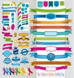 Nastri e segnali multicolori Fotografie Stock