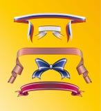 Nastri ed arco a strisce illustrazione di stock