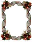 Nastri ed ornamenti di immaginazione del confine di Natale immagine stock libera da diritti