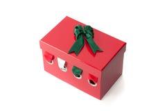 Nastri luminosi nella scatola Immagini Stock