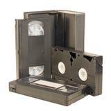 Nastri magnetici di VHS Immagini Stock