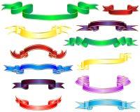 Nastri multicolori Immagini Stock