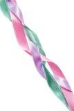 Nastri porpora e rosa brillanti del raso Fotografia Stock