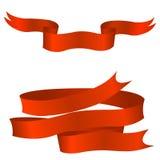 Nastri rossi Immagini Stock