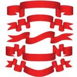 Nastri rossi Fotografia Stock Libera da Diritti