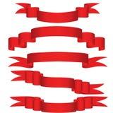 Nastri rossi Immagine Stock Libera da Diritti