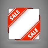 Nastri rossi dell'angolo di vendita di vettore illustrazione di stock