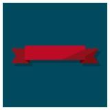 Nastri rossi messi, illustrazione di web di vettore Immagini Stock Libere da Diritti