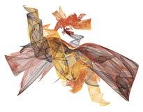 Nastri Vaporous nei colori di caduta illustrazione di stock