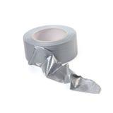 Nastro adesivo d'argento fortificato Fotografia Stock Libera da Diritti
