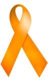Nastro arancione Fotografie Stock Libere da Diritti