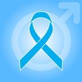 Nastro blu-chiaro come simbolo di consapevolezza del carcinoma della prostata Fotografia Stock Libera da Diritti