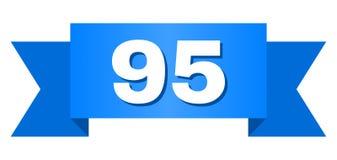 Nastro blu con il titolo 95 illustrazione di stock