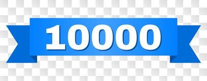 Nastro blu con il titolo 10000 illustrazione di stock