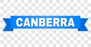 Nastro blu con il titolo di CANBERRA illustrazione di stock