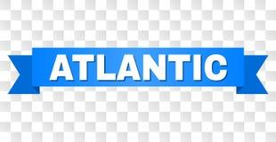 Nastro blu con testo ATLANTICO royalty illustrazione gratis