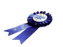 Nastro blu di compleanno Fotografia Stock