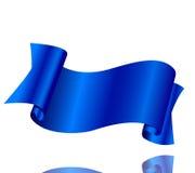 Nastro blu su un fondo bianco Fotografia Stock