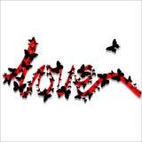 Nastro con le farfalle Fotografia Stock Libera da Diritti