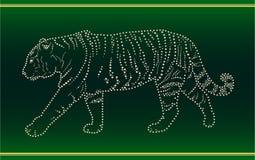 Nastro con una tigre Fotografie Stock Libere da Diritti