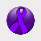 Nastro contro violenza domestica Fotografia Stock Libera da Diritti