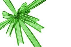 Nastro decorativo verde dell'arco Immagine Stock Libera da Diritti