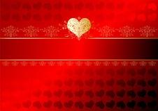Nastro dei biglietti di S. Valentino Immagini Stock Libere da Diritti