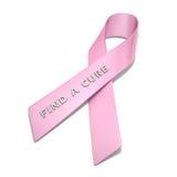 Nastro del cancro al seno Fotografie Stock Libere da Diritti