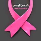 Nastro del cancro al seno Immagini Stock
