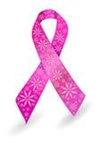 Nastro del cancro della mammella nel colore rosa Fotografie Stock