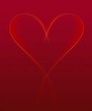 Nastro del cuore del biglietto di S. Valentino di indicatore luminoso Illustrazione Vettoriale