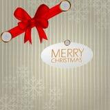 Nastro del fondo di Natale Immagini Stock Libere da Diritti