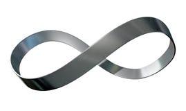 Nastro del metallo di simbolo di infinito Fotografia Stock