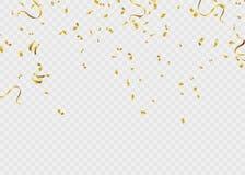 Nastro del modello del fondo di celebrazione Scintille dell'oro S elegante illustrazione vettoriale