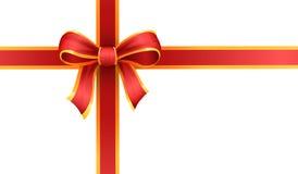 Nastro del regalo e del presente, arco o ciclo Fotografia Stock Libera da Diritti