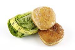 nastro dell'insalata di misura del lettace dell'ostruzione della ciambella Fotografia Stock Libera da Diritti