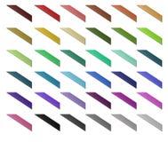 Nastro dell'insieme di colore isolato su priorità bassa bianca Fotografie Stock Libere da Diritti