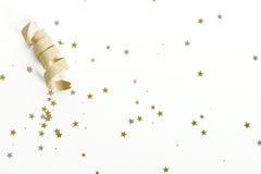 Nastro dell'oro con le stelle Immagini Stock