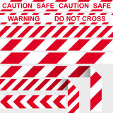 Nastro della barriera Nastro restrittivo rosso e bianco Fotografia Stock Libera da Diritti